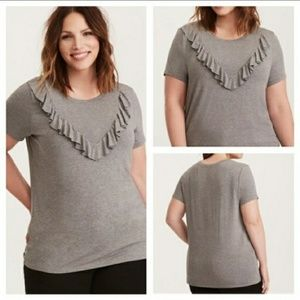 Torrid super soft knits with ruffles